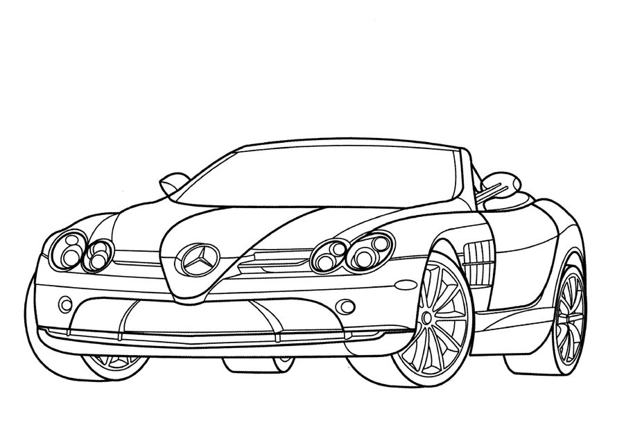 900x636 Coloring Pages Mercedes, Printable For Kids Amp Adults, Free