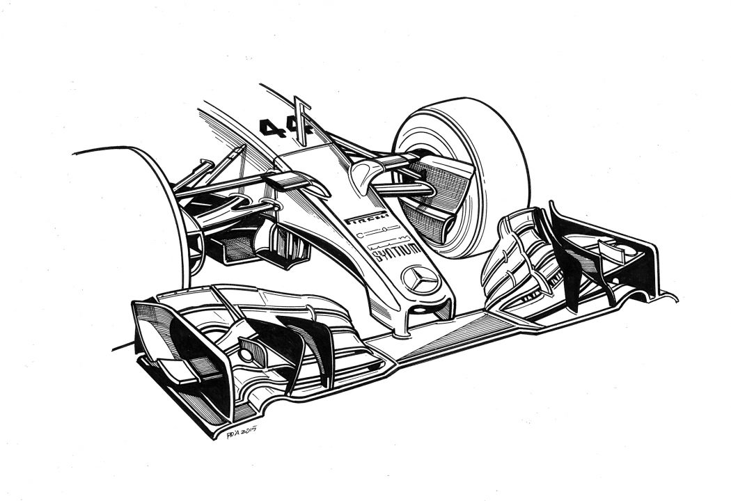 1050x720 Technical Drawings Of Mercedes 2014 2016 Cars By Paolo D'Alessio