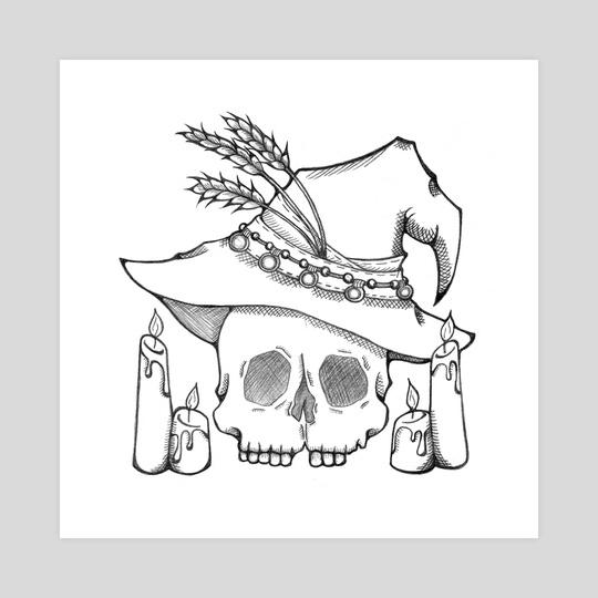 540x540 Witch Skull, An Art Print By Mercedes Friesen