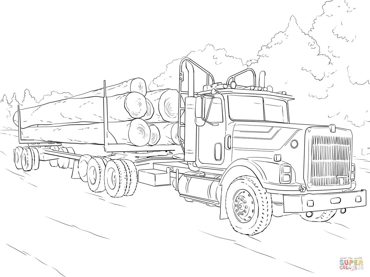 1200x900 Log Truck Super Coloring Car Coloring Logs, Digi