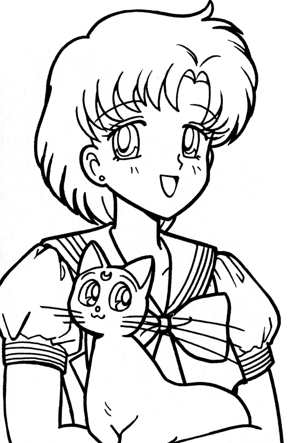 1200x1835 Sailor Mercury Coloring Pages
