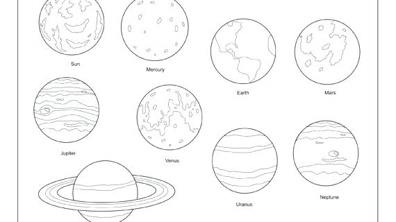 570x320 Planets Coloring Pages And Printable Planet Plu On Mercury Planet