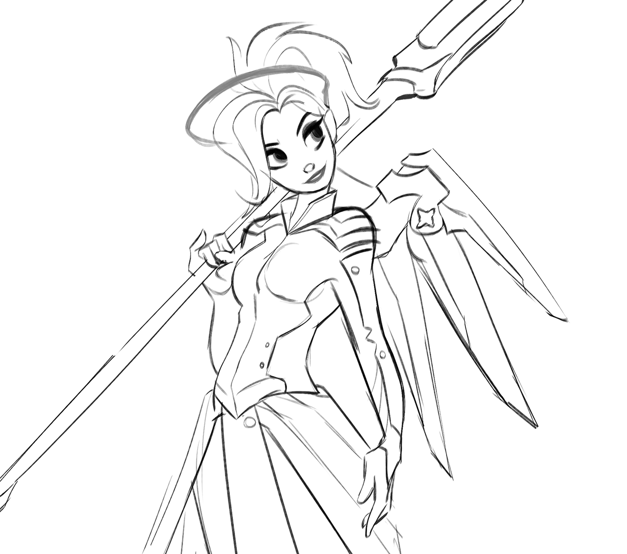 1230x1087 Some Mercy Fanart. She's My Favourite To Play In Overwatch! Cute