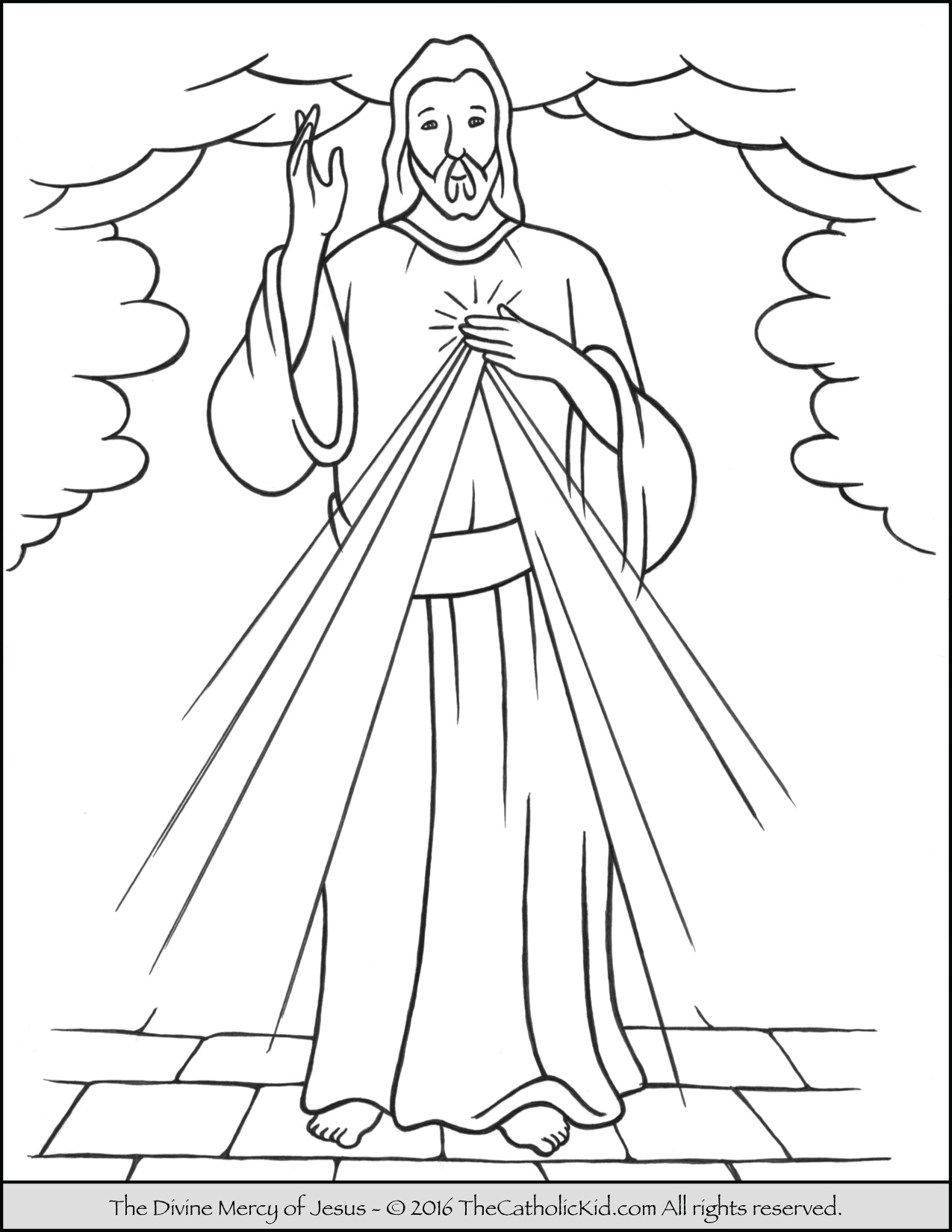 1275x1650 Divine Mercy Coloring Pages