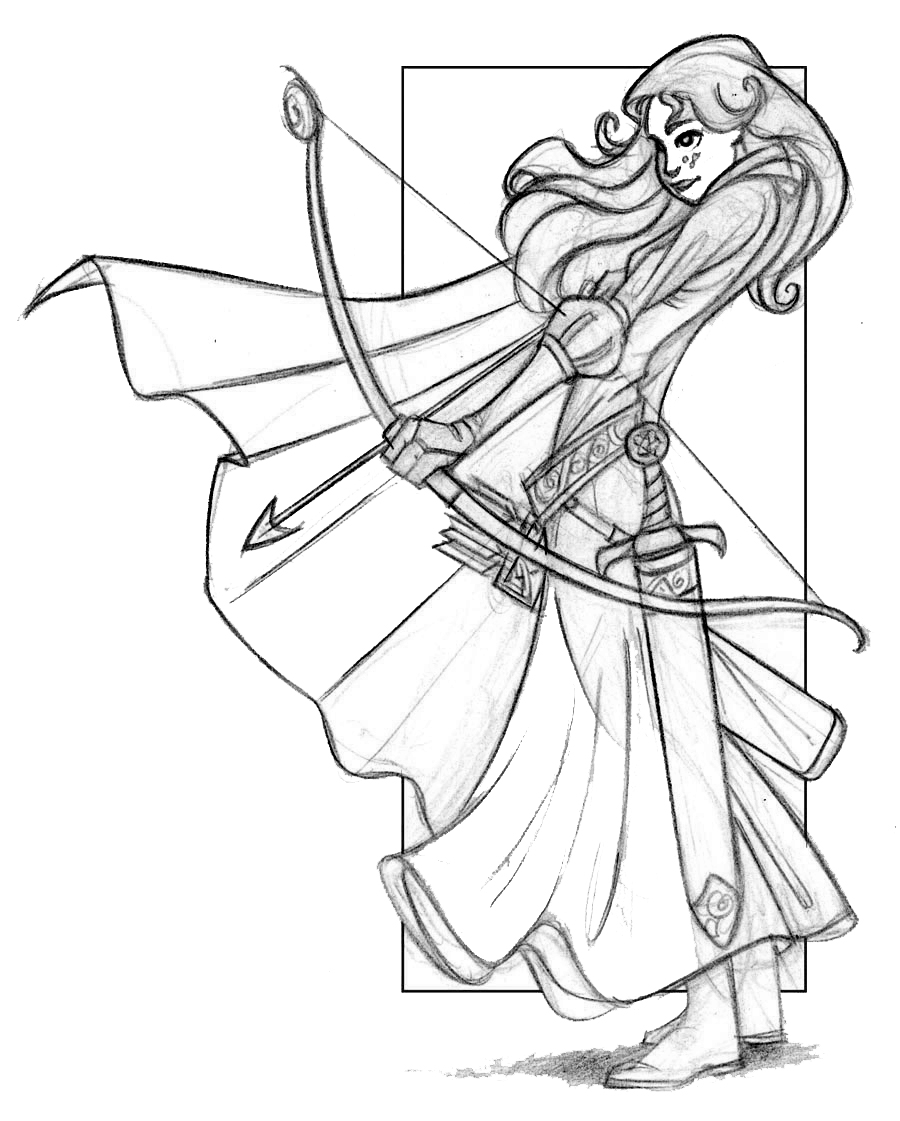 900x1121 BRAVE MERIDA COLORING PAGES