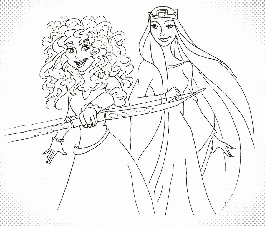 900x769 Brave Merida And The Queen By Maryjet