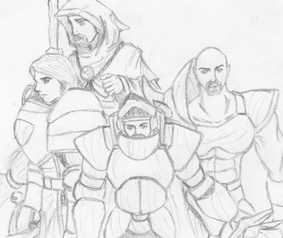 900x757 Knights Of The Round + Merlin By Sealerthebandit