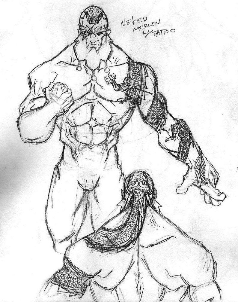 794x1005 Merlin Naked Tat Concept By Fumeista23