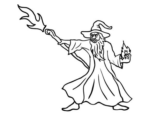 printable coloring pages wisards - photo#47