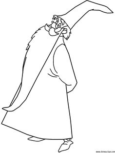 236x313 Merlin Herb Hold Sword In The Stone Coloring Pages