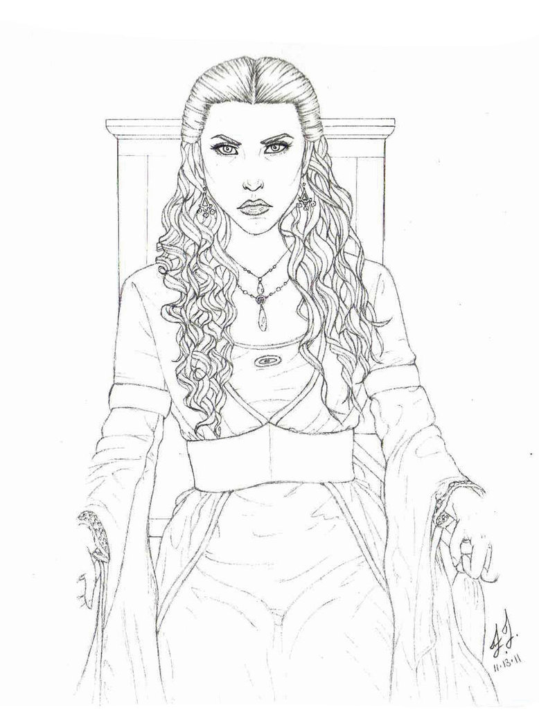 778x1028 Merlin Morgana Sketch By Willow Chan