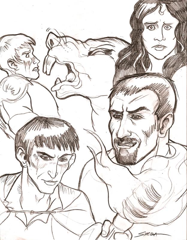 624x800 Merlin Sketches 4 By Slayersyrena
