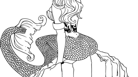 how to draw a mermaid for beginners