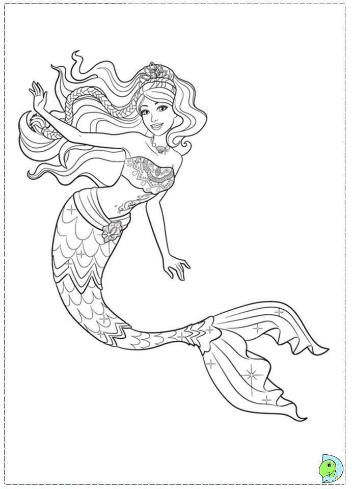 691x960 Mermaid Coloring Pages