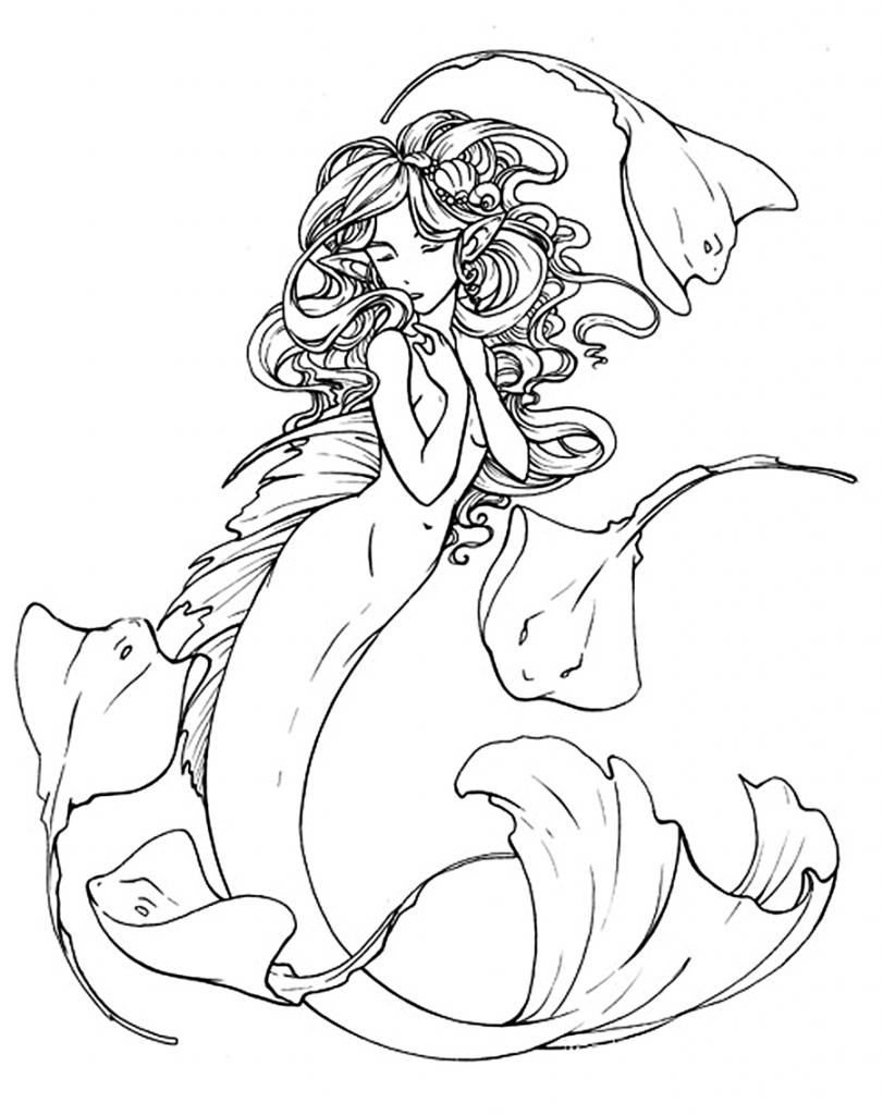 811x1024 Cartoon Mermaid Drawing How To Draw A Cute Mermaid In Easy Steps