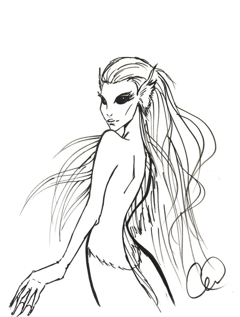 777x1028 Dark Mermaid By Christytortland