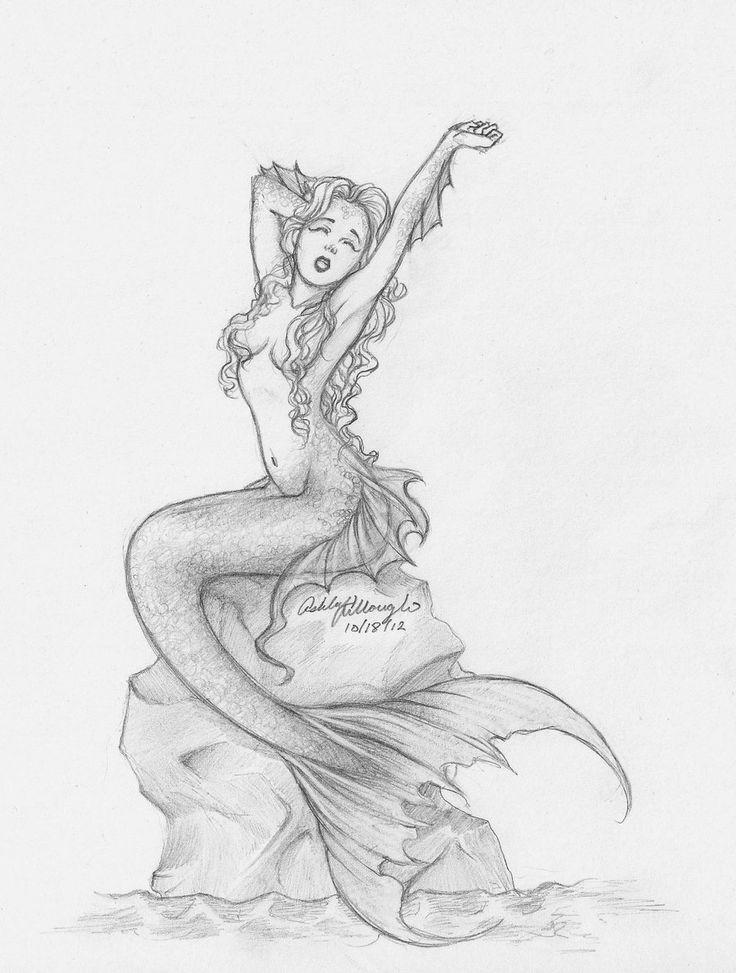736x973 Gallery Beautiful Mermaid Pencil Drawings,