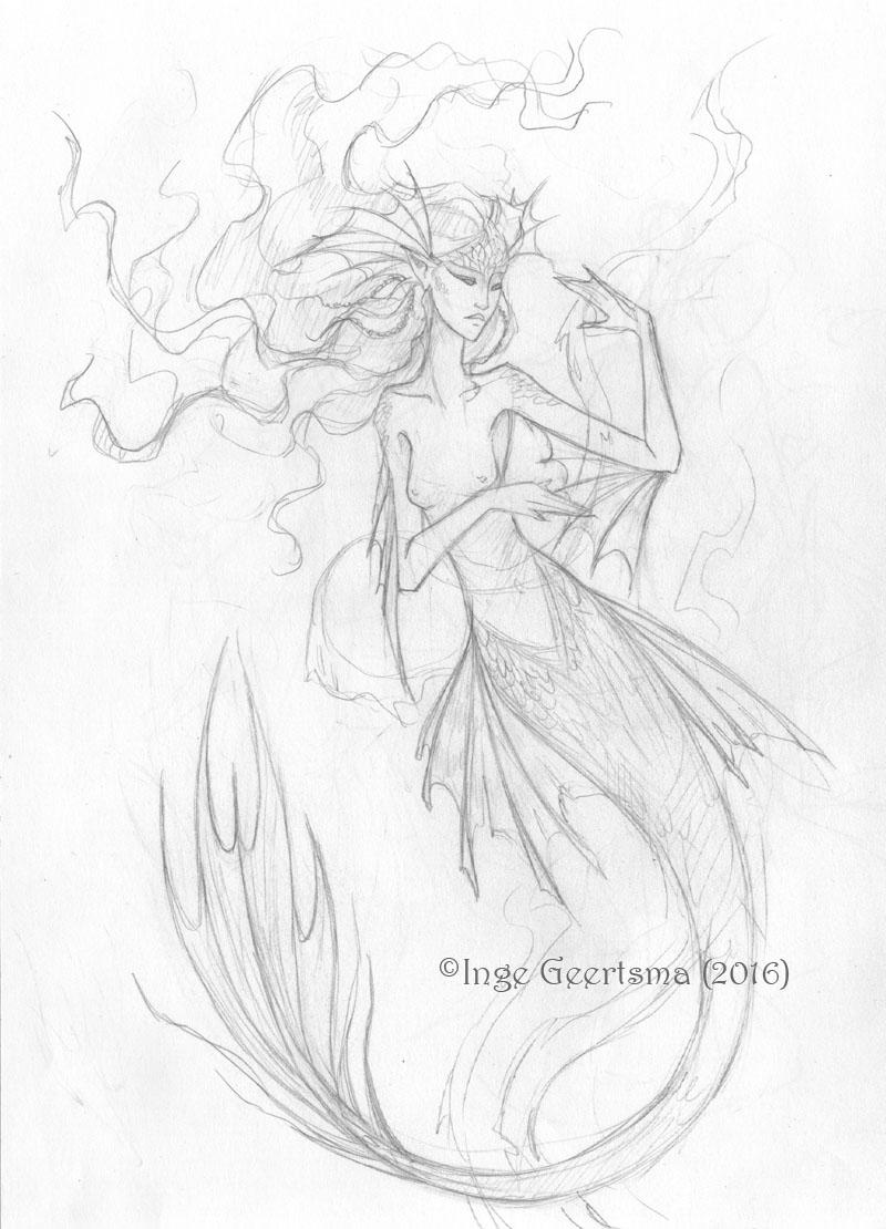 800x1110 Mermaid (Sketch) By Raafke