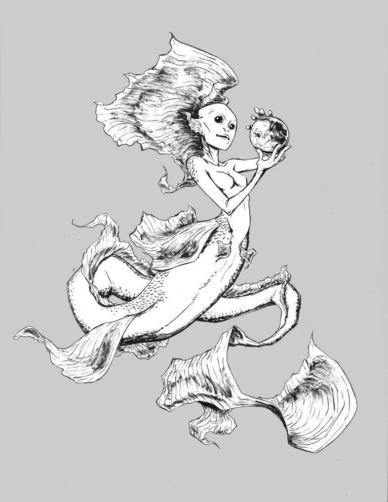 786x1017 Mermaid Sketch By Sketch Geek