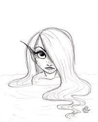 202x250 The Best Easy Mermaid Drawing Ideas On Drawing