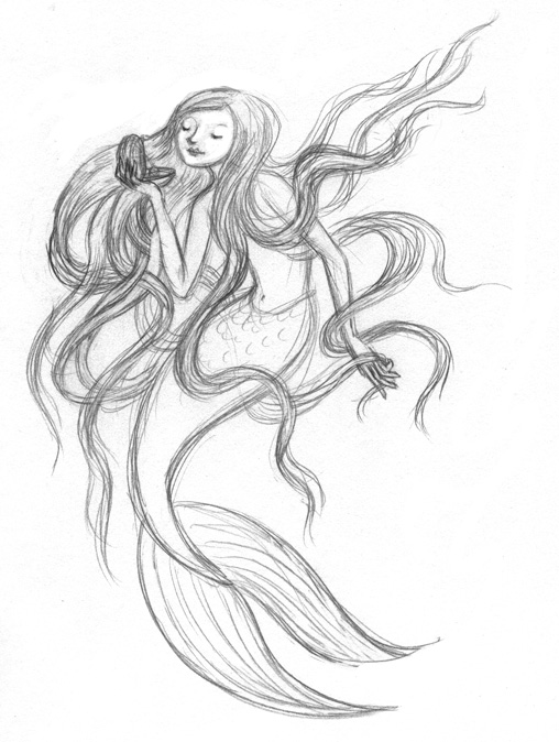 508x674 Artghost Mermaids With Big Hair