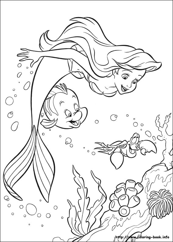 567x794 Little Mermaid Coloring Picture