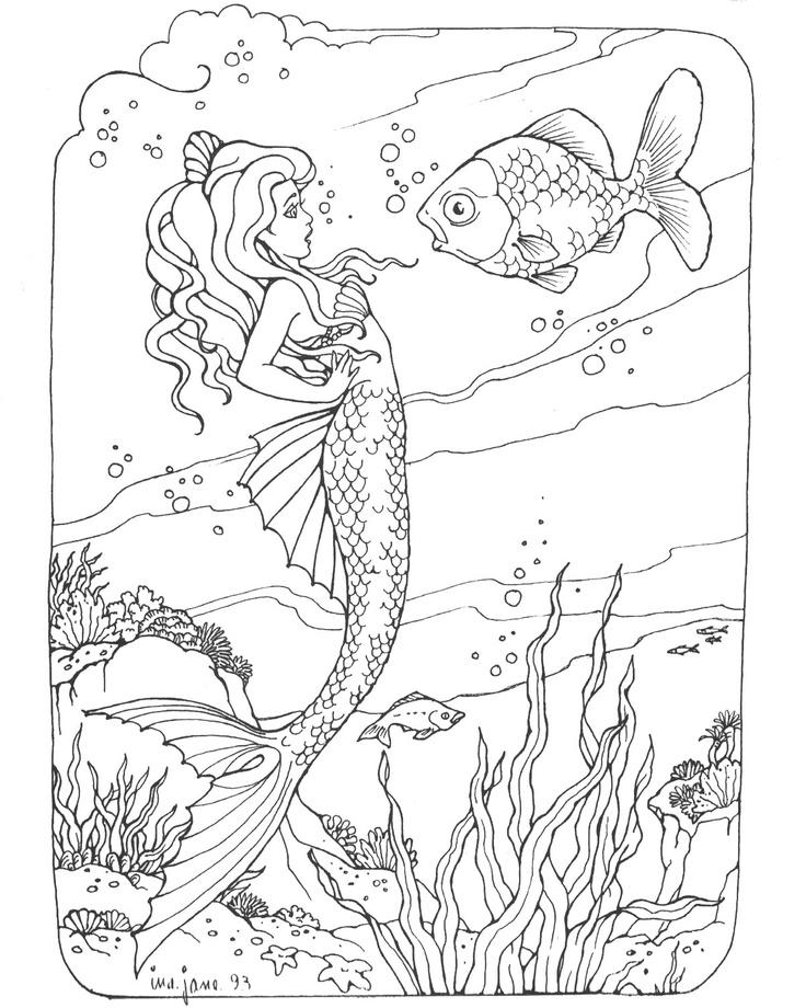 736x920 Mermaid Dive Log Book Mermaid Coloring Page Free Bjl Scuba