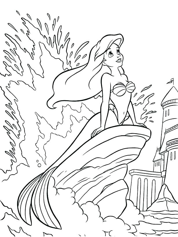 615x820 The Little Mermaid Coloring Book As Well As Little Mermaid 2