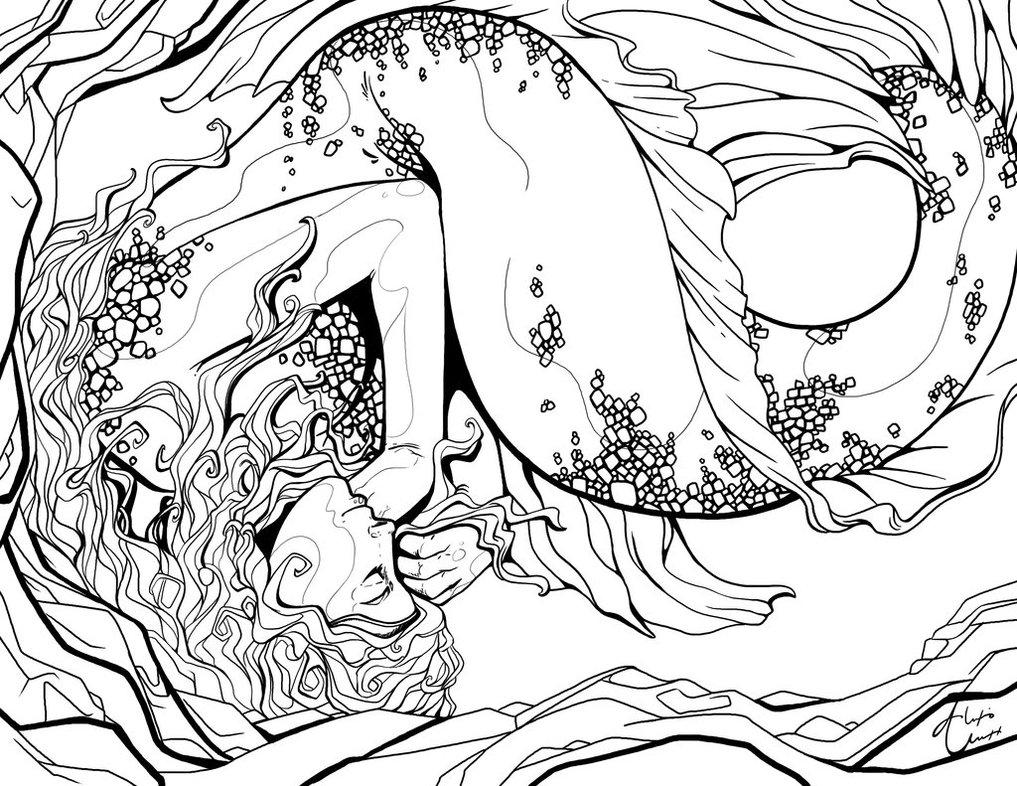 1017x786 Mermaid drawings Sleeping Mermaid Outline By Alexisunderwood