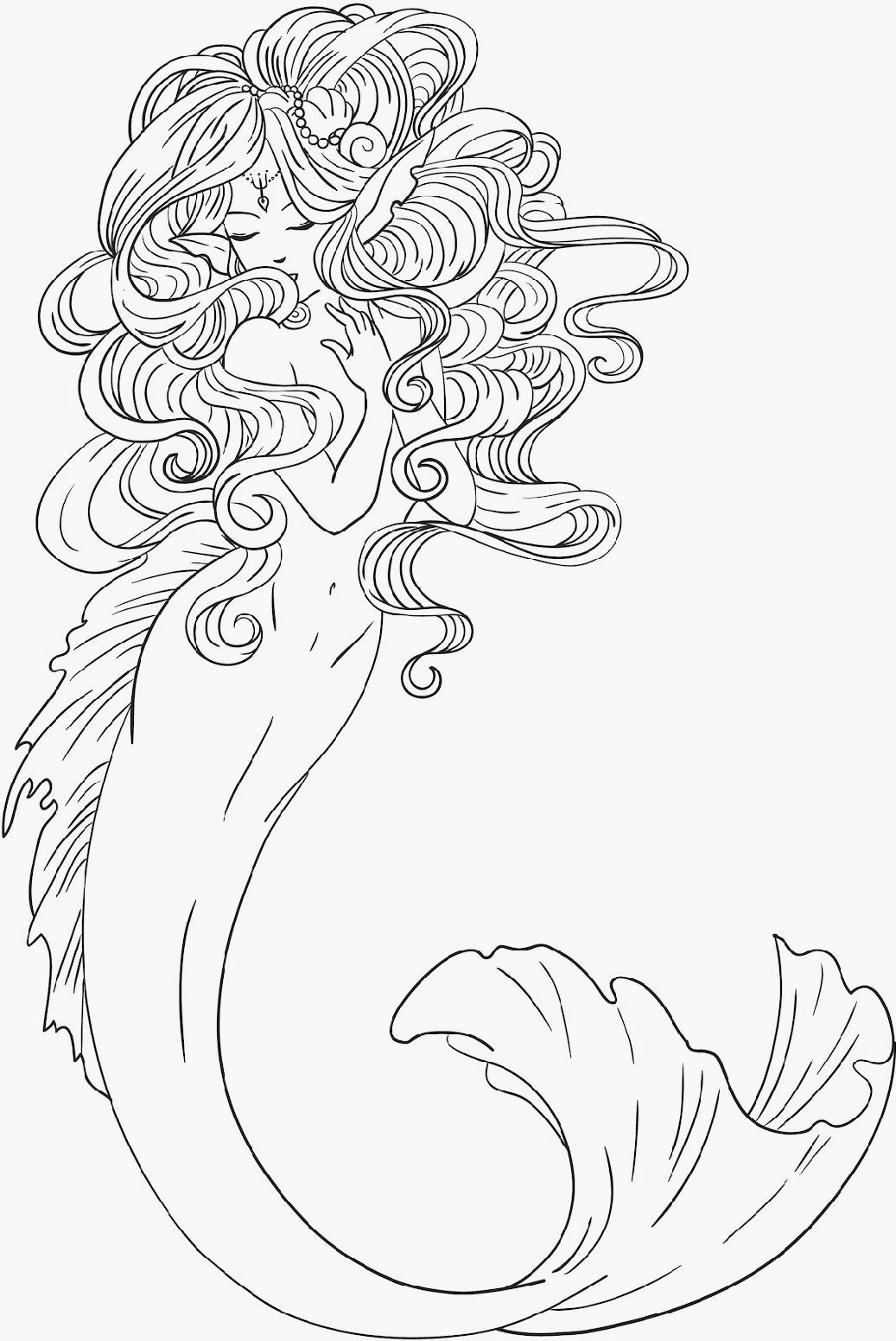 Mermaid Drawing Cliparts at GetDrawings | Free download