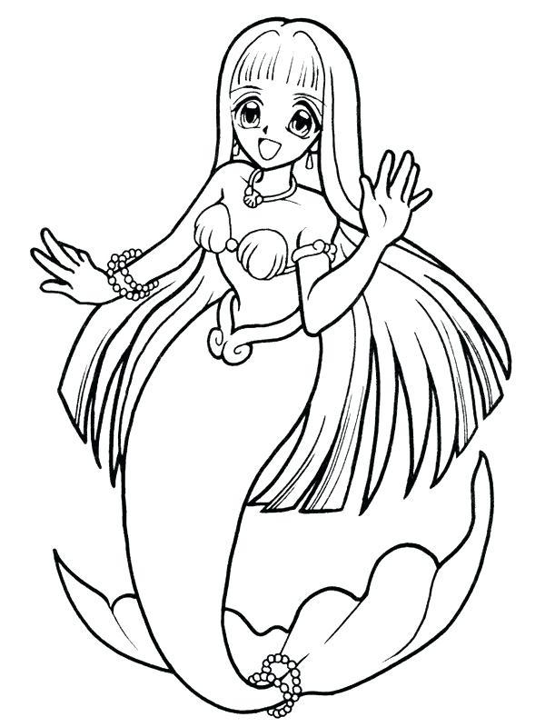 600x800 Mermaid Coloring Sheets Anime Mermaid Coloring Pages Mermaid
