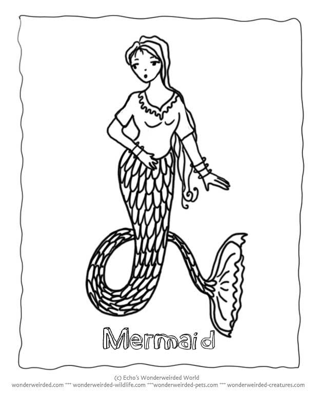 612x792 mermaid drawings for kids 405297