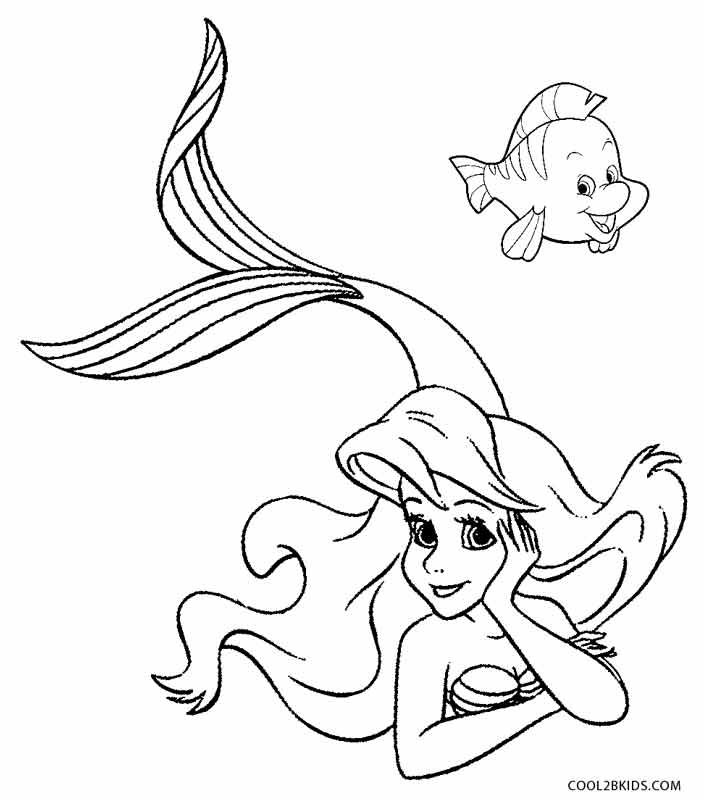 704x800 Printable Mermaid Coloring Pages For Kids Cool2bkids