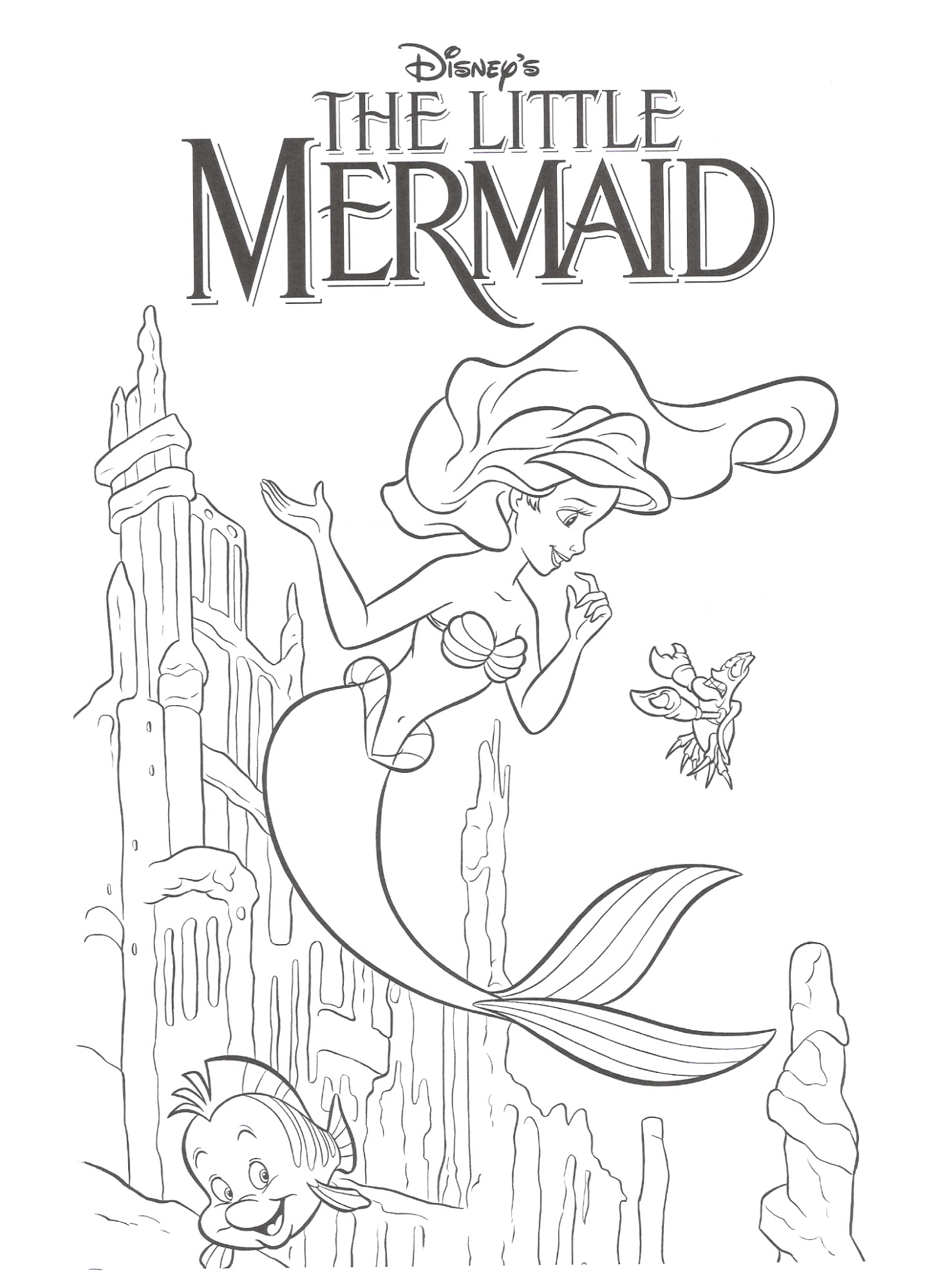 Mermaid Drawing For Kids at GetDrawings.com | Free for personal use ...