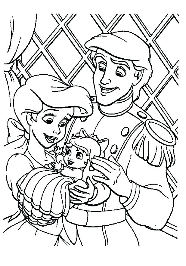 618x884 The Little Mermaid 2 Coloring Pages Cartoon Mermaid Coloring Pages