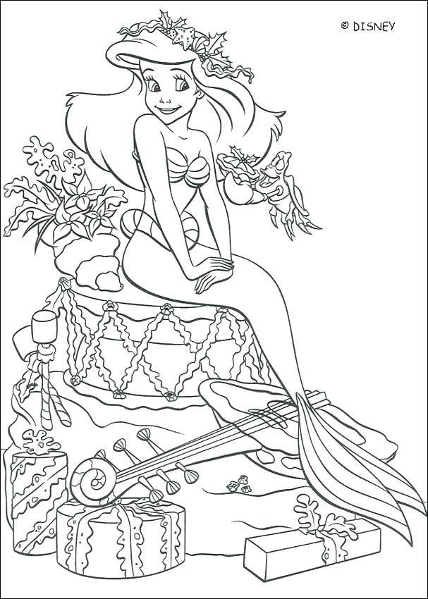 607x850 Top Little Mermaid Coloring Pages Disney Fee Games The Page