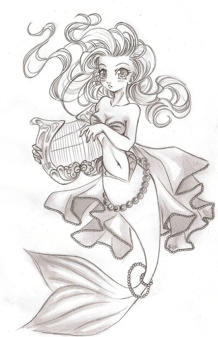 Mermaid Drawing Images