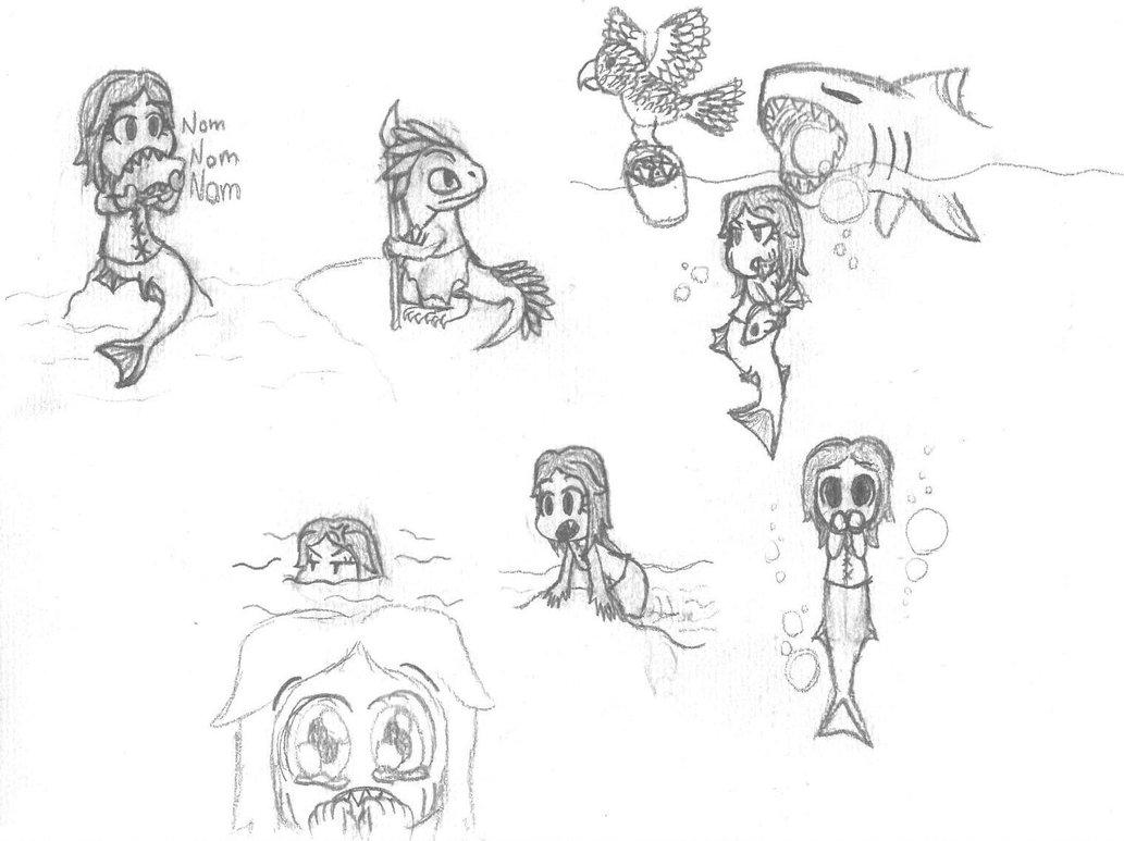 1033x773 Drake Edge Chibi Mermaid Drawing By Xzxrix