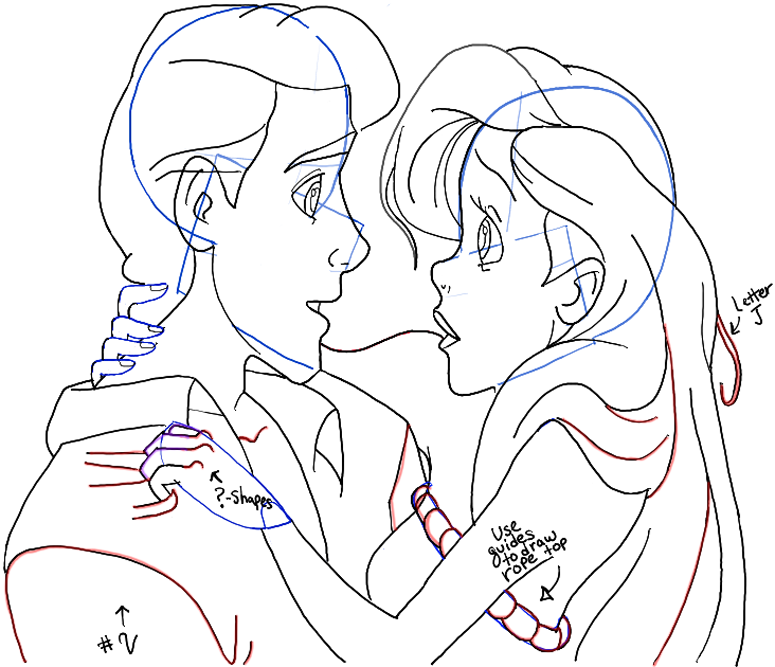 775x667 How To Draw Ariel And Eric From The Little Mermaid In Easy Steps