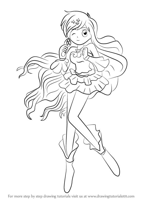 596x843 Learn How To Draw Hanon Hosho From Mermaid Melody (Mermaid Melody