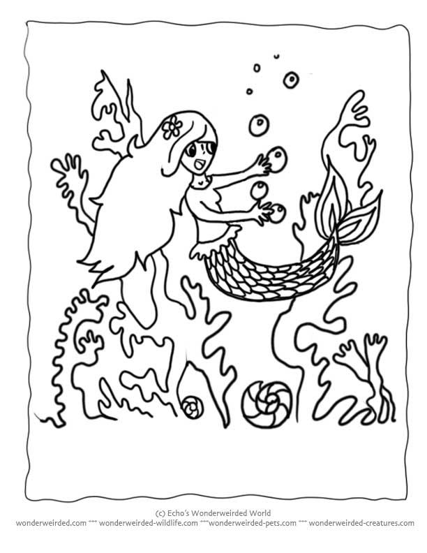 612x792 Mermaid Drawings For Kids 405285