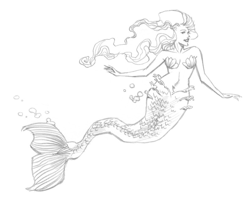 800x662 Mermaid Extract From 50 Things To Draw By Ed Tadem How To Draw