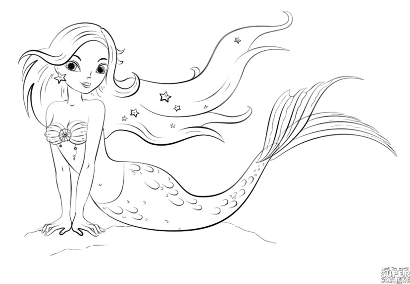 828x575 Successful Mermaid Drawings For Kids How To Draw A Step By Kid S