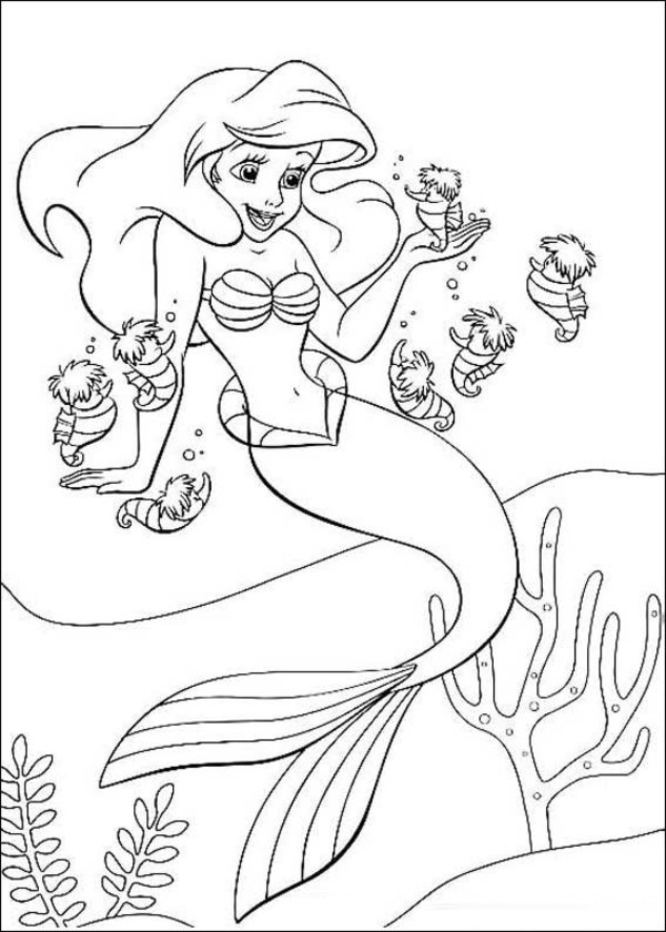 600x840 The Little Mermaid Coloring Pages 3