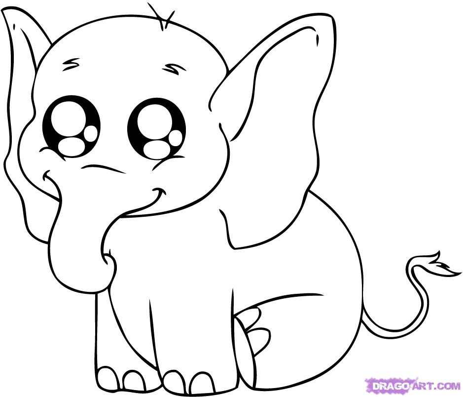 939x804 Interesting Ideas Easy Coloring Pages Animals Baby Elephant