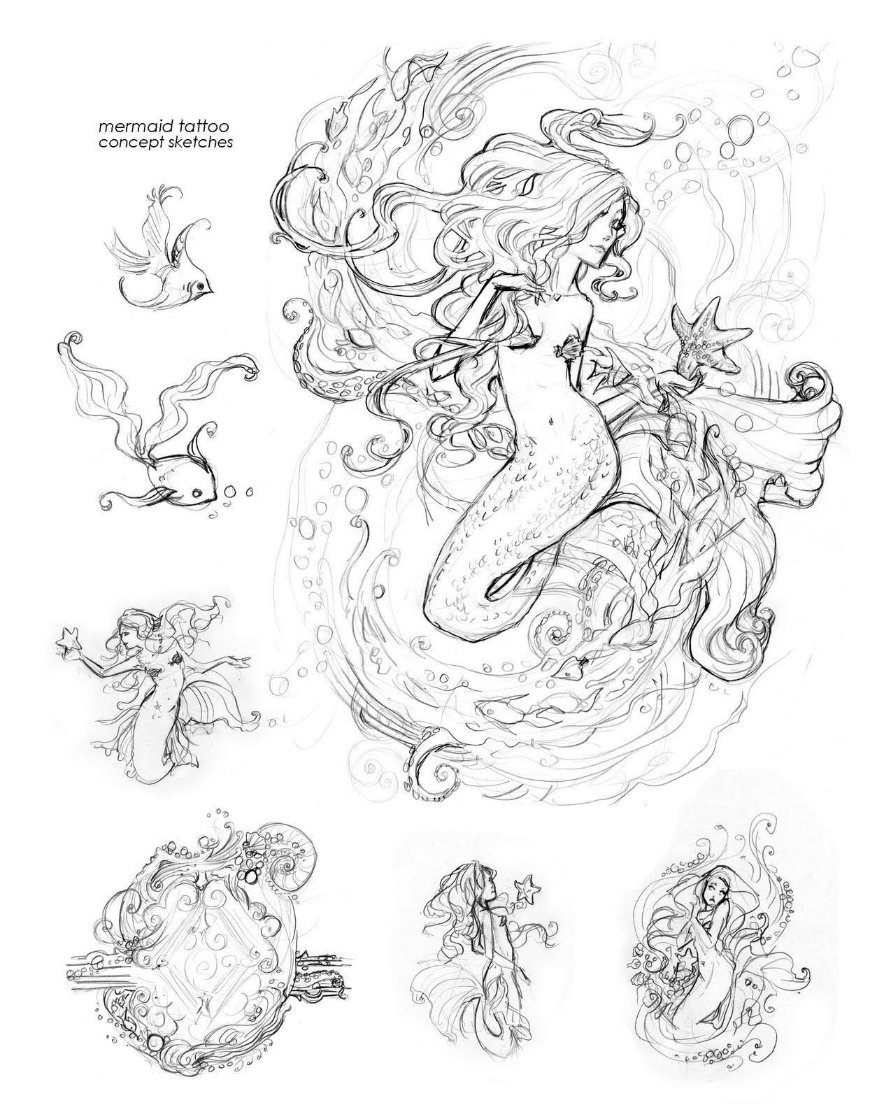 1264x1600 Girls Drawing Girls Mermaid Tattoo Body Art