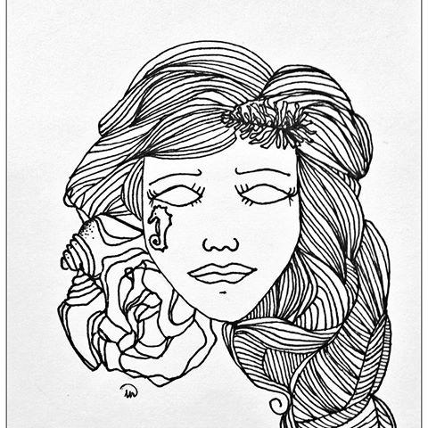 480x480 2016 Mermaid Girl Pencil Sharpie