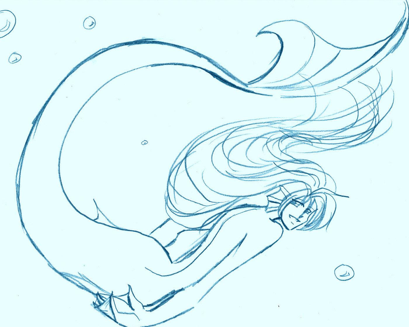 1400x1120 Mermaid Creature By Golden Dragon Girl