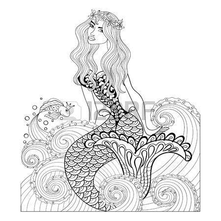 450x450 4,564 Mermaid Girl Stock Vector Illustration And Royalty Free