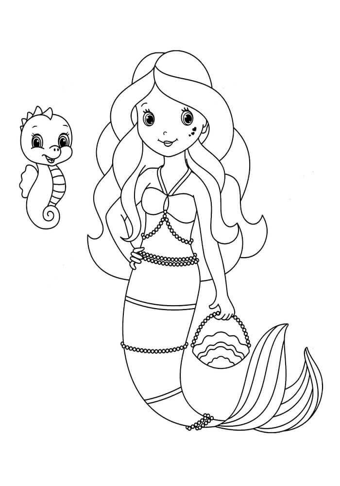 700x1000 30 Stunning Mermaid Coloring Pages